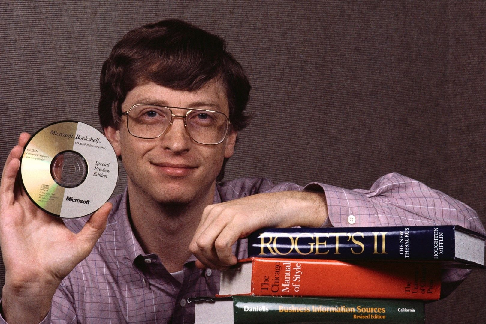 Bill Gates, Microsoft's co-founder, presents one of the earliest examples of commercial CD software.