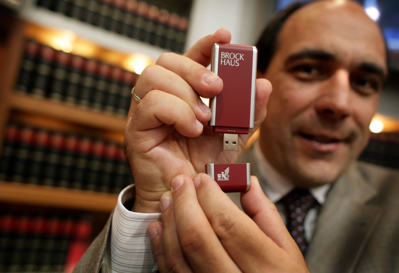In mid-2000s, German publisher Brockhaus was selling its famed encyclopedia on flash drives, in addition to optical discs and print.