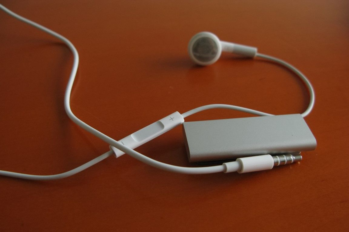 The smallest iPod model was comparable in length to the headphone plug.